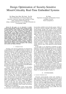 Design Optimization of Security-Sensitive Mixed-Criticality Real-Time Embedded Systems , Yue Ma