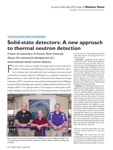 Solid-state detectors: A new approach to thermal neutron detection