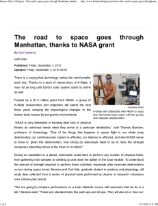 Kansas State Collegian - The road to space goes through...