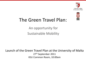 The Green Travel Plan: An opportunity for Sustainable Mobility