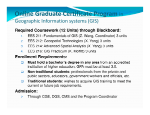 Online Graduate Certificate Program in Geographic Information systems (GIS)