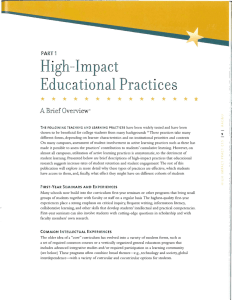 High-Impact Practices Educational •