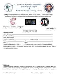 American Humanics Sustainable Partnerships Project at California State University, Fresno