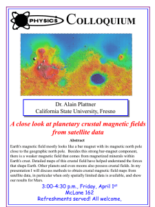 C OLLOQUIUM A close look at planetary crustal magnetic fields from satellite data