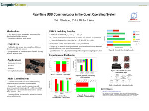 Real­Time USB Communication in the Quest Operating System Eric Missimer, Ye Li, Richard West Motivations USB Scheduling Problem