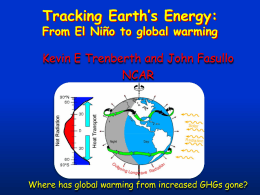 Tracking Earth's Energy:  From El Niño to global warming