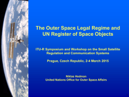 The Outer Space Legal Regime and UN Register of Space Objects