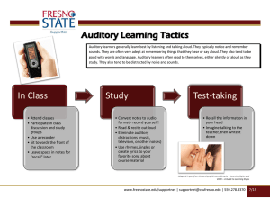 Auditory Learning Tactics