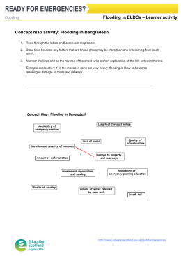 – Learner activity Flooding in ELDCs Concept map activity: Flooding in Bangladesh