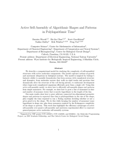 Active Self-Assembly of Algorithmic Shapes and Patterns in Polylogarithmic Time ∗