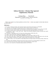 Saliency Detection: A Boolean Map Approach Supplementary Materials Jianming Zhang Stan Sclaroff