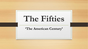 The Fifties 'The American Century'