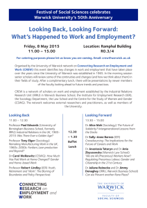 Looking Back, Looking Forward: What's Happened to Work and Employment?