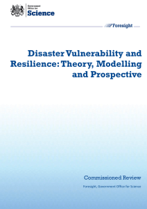 Disaster Vulnerability and Resilience: Theory, Modelling and Prospective Commissioned Review