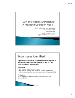 SOA and Mission Architecture: