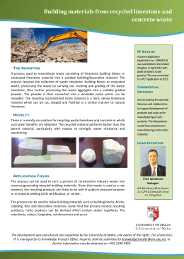 Building materials from recycled limestone and concrete waste T