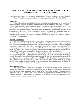 EFFICACY OF V-10161 AND OTHER PRODUCTS IN CONTROL OF PHYTOPHTHORA CAPSICI