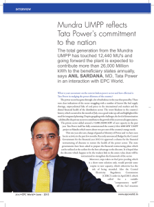 Mundra UMPP reflects Tata Power's commitment to the nation