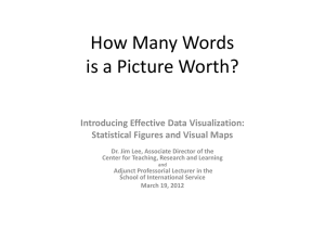 How Many Words is a Picture Worth? Introducing Effective Data Visualization: