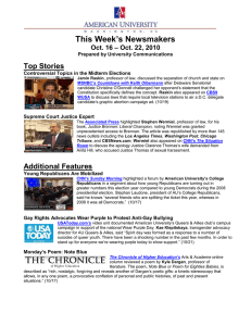 This Week's Newsmakers Top Stories – Oct. 22, 2010 Oct. 16