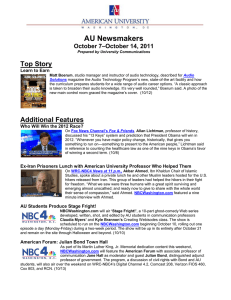 AU Newsmakers Top Story –October 14, 2011 October 7