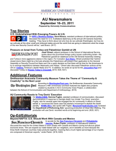 AU Newsmakers Top Stories –23, 2011 September 16
