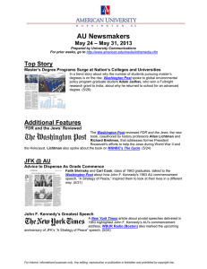 AU Newsmakers Top Story – May 31, 2013 May 24
