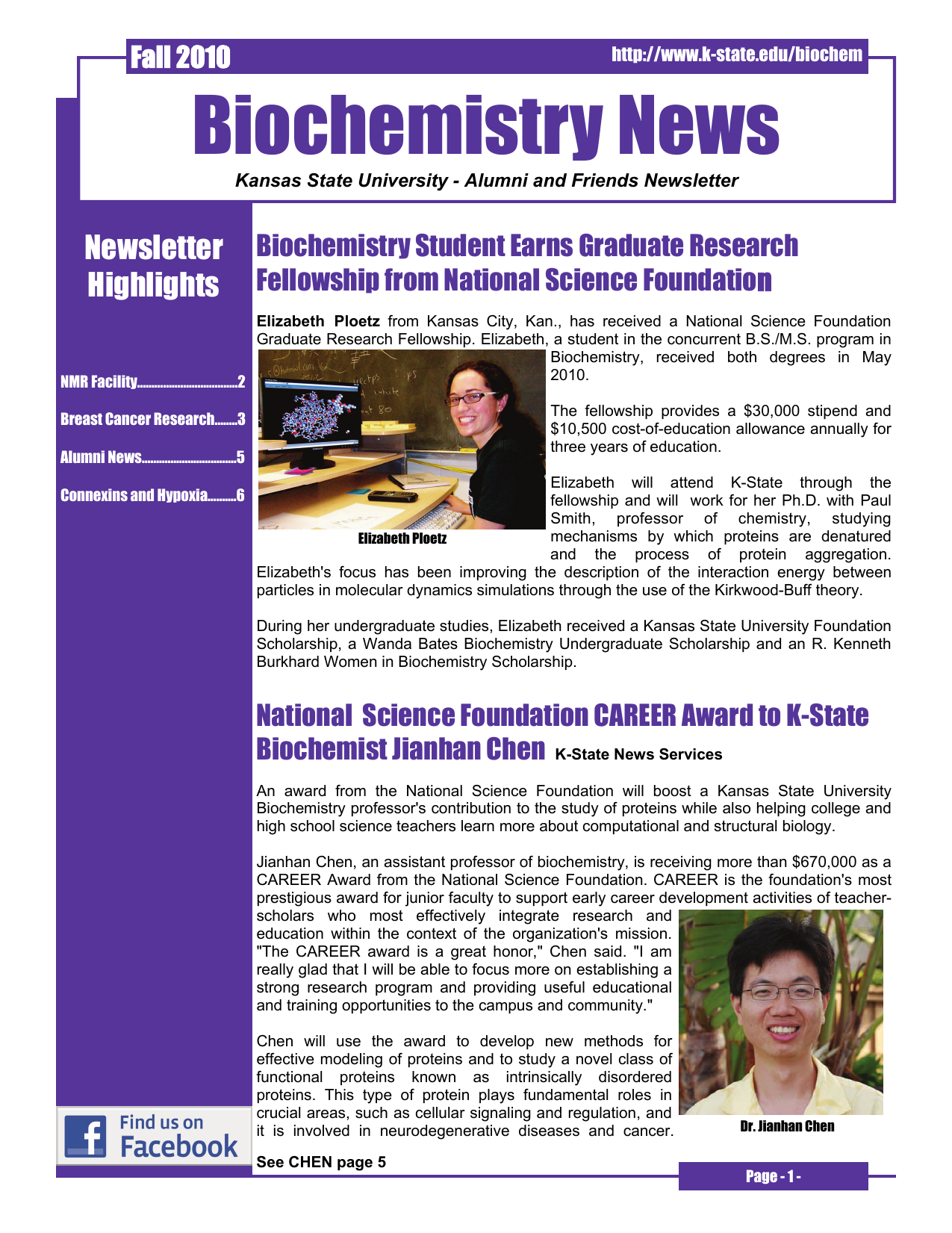 biochemistry news newsletter highlights
