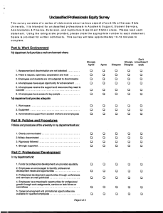 Unclassified Professionals Equity Survey