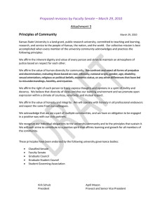 Proposed revisions by Faculty Senate – March 29, 2010  Attachment 3  Principles of Community