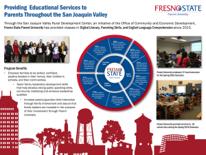 Providing  Educational Services to Parents Throughout the San Joaquin Valley