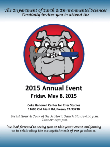 2015 Annual Event Friday, May 8, 2015