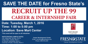 RECRUIT UP THE 99 SAVE THE DATE for Fresno State's