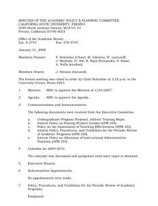 MINUTES OF THE ACADEMIC POLICY & PLANNING COMMITTEE