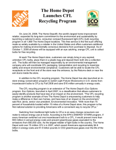 The Home Depot Launches CFL Recycling Program