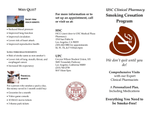 Smoking Cessation Program USC Clinical Pharmacy W