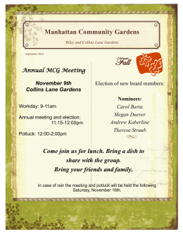 Fall Manhattan Community Gardens share with the group.