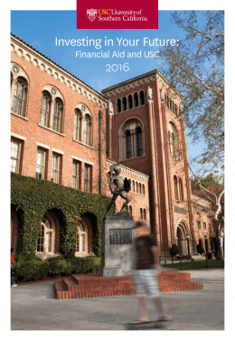 Investing in Your Future:  2016 Financial Aid and USC
