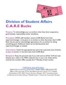 Division of Student Affairs C.A.R.E Bucks