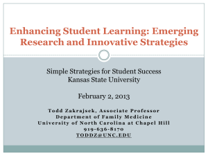 Enhancing Student Learning: Emerging Research and Innovative Strategies Kansas State University