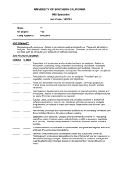 University Of Southern California Safety Specialist Ii Job Code 119019