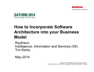 How to Incorporate Software Architecture into your Business Model Raytheon