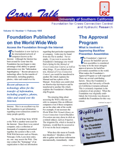 T Foundation Published The Approval on the World Wide Web