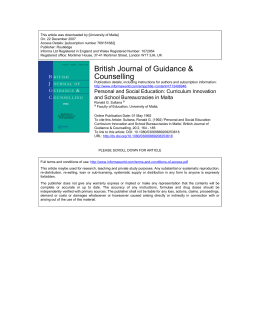 This article was downloaded by:[University of Malta] On: 22 December 2007