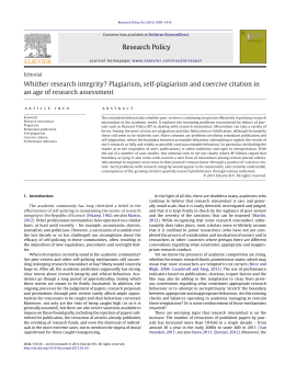 Research Policy Whither research