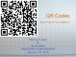 QR Codes Monica Fusich & Scott Sailor