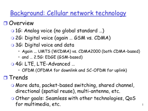 Background: Cellular network technology Overview