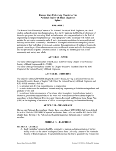 Kansas State University Chapter of the National Society of Black Engineers Bylaws