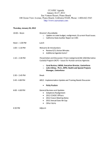 CCASSC Agenda January 26-27, 2012 Sea Venture Resort, Pismo Beach