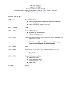 CCASSC Agenda April 19-20, 2012 Sea Venture Resort, Pismo Beach